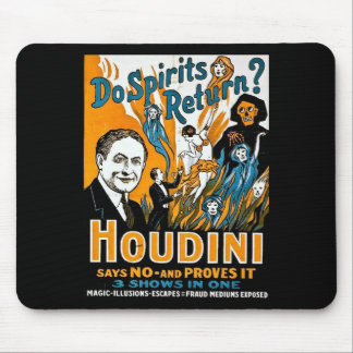 Vintage Houdini Advertisement - Do Spirits Return? Mouse Pad