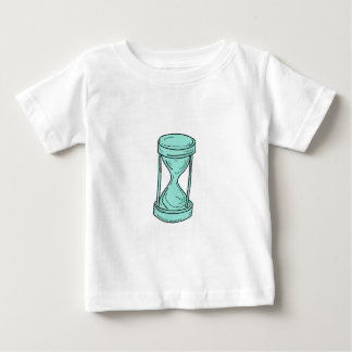 Vintage Hour Glass Drawing Baby T-Shirt