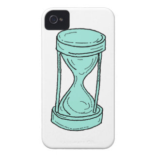 Vintage Hour Glass Drawing iPhone 4 Case