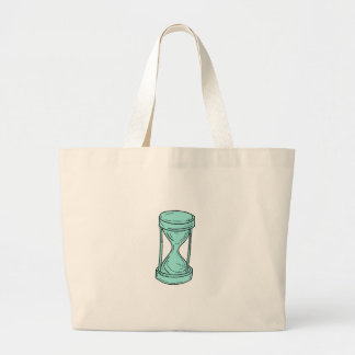 Vintage Hour Glass Drawing Large Tote Bag