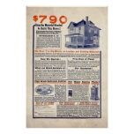 Vintage House Building Ad from 1909 Poster