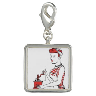 Vintage Housewife Photo Charms
