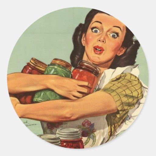 Vintage Housewife Round Sticker