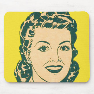 Vintage Housewife Woman Fities Advertisement Mouse Pad