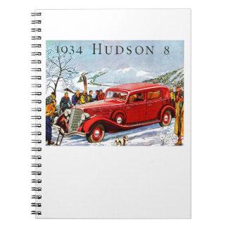 Vintage Hudson Automobile Ad Note Books