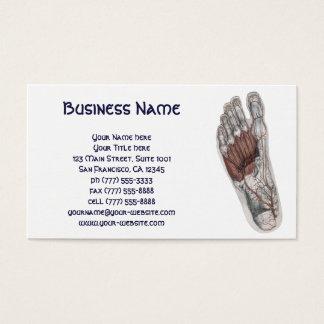 Vintage Human Anatomy Footprint Podiatry Foot Business Card