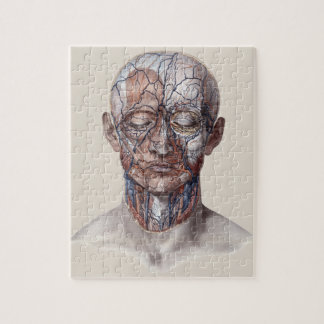 Vintage Human Anatomy Science, Head Throat Nose Jigsaw Puzzle