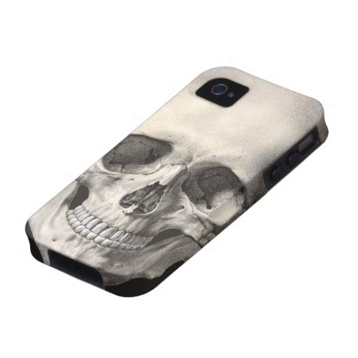 Vintage Human Anatomy Skull, Halloween Skeleton Case-Mate iPhone 4 Covers
