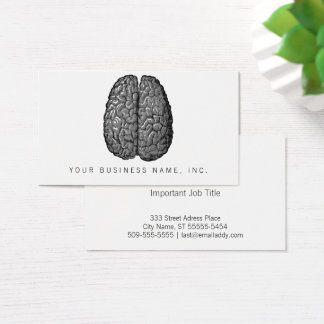 Vintage Human Brain Illustration Business Card