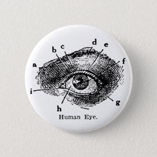 Vintage Human Eye Diagram 2 Inch Round Button