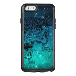 Vintage Human Skull Tattoo on Midnight Sky Stars OtterBox iPhone 6/6s Case