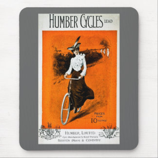 Vintage Humber Bike Advertisement Mouse Pads