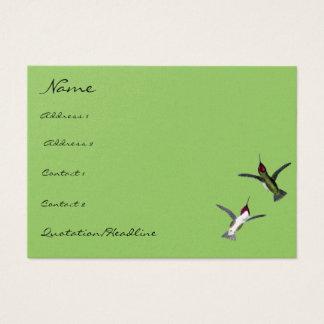 Vintage Humming Birds choose Background colors Business Card