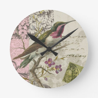 Vintage Hummingbird...wall clock