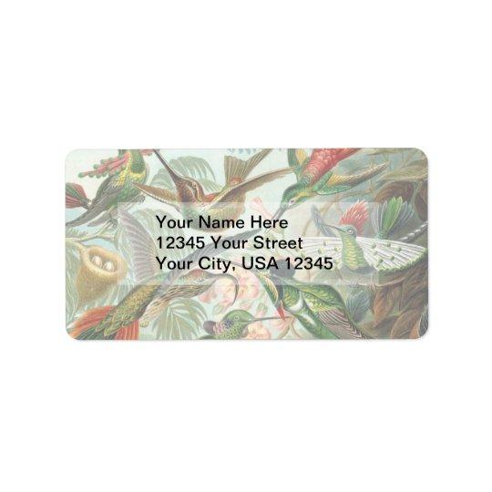 Vintage Hummingbirds Label