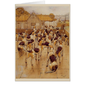 Vintage Hunting Hounds, Card