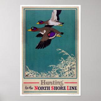 Vintage Hunting Poster Restored