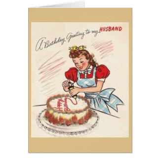 Vintage Husband Birthday Greeting Card
