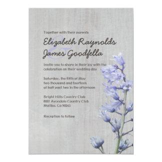 Vintage Hyacinth Wedding Invitations