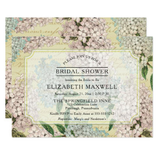 VIntage Hydrangeas | French Ephemera Bridal Shower Card