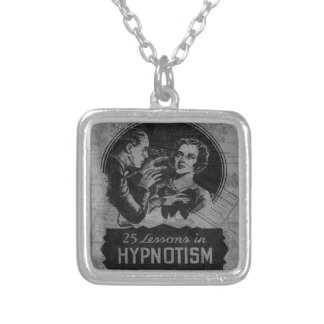 Vintage Hypnotism Silver Plated Necklace