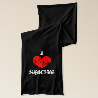 Vintage I heart snow scarf   Personalizable i love