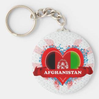 Vintage I Love Afghanistan Keychain