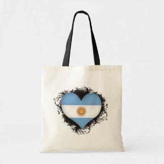 Vintage I Love Argentina Tote Bag