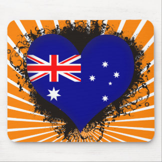 Vintage I Love Australia Mouse Pad