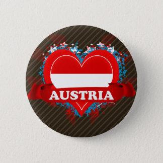 Vintage I Love Austria 2 Inch Round Button