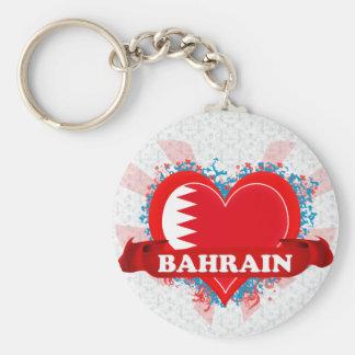 Vintage I Love Bahrain Keychain