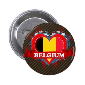 Vintage I Love Belgium 2 Inch Round Button