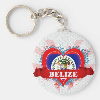 Vintage I Love Belize Keychain