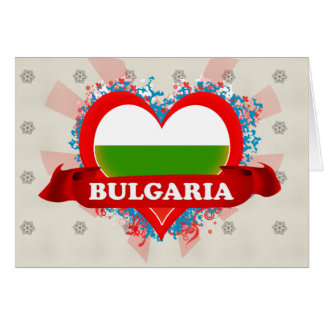 Vintage I Love Bulgaria Card