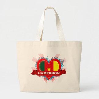 Vintage I Love Cameroon Large Tote Bag