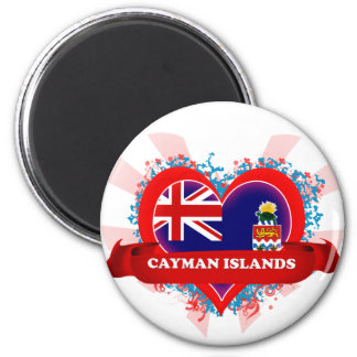 Vintage I Love Cayman Islands Magnet