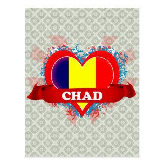 Vintage I Love Chad Postcard