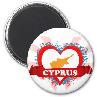 Vintage I Love Cyprus Magnet