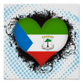Vintage I Love Equatorial Guinea Poster
