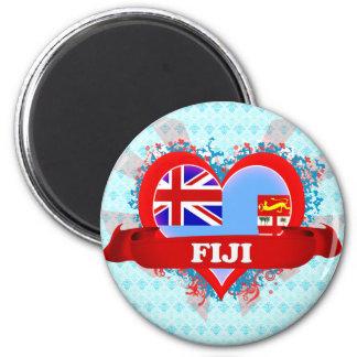 Vintage I Love Fiji Magnet
