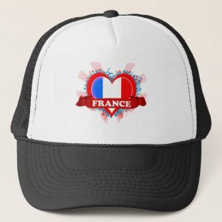 Vintage I Love France Trucker Hat