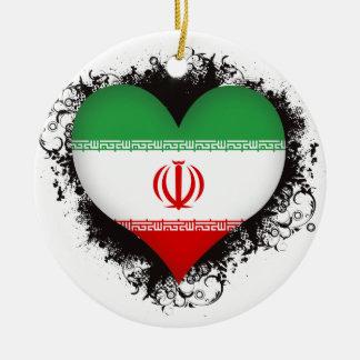 Vintage I Love Iran Ceramic Ornament