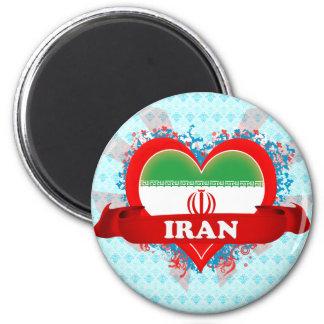 Vintage I Love Iran Magnet