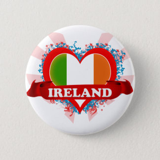Vintage I Love Ireland 2 Inch Round Button