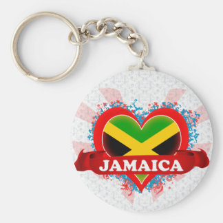 Vintage I Love Jamaica Keychain