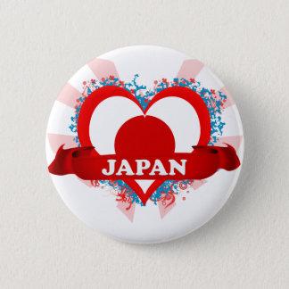 Vintage I Love Japan 2 Inch Round Button