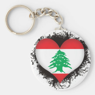 Vintage I Love Lebanon Basic Round Button Keychain