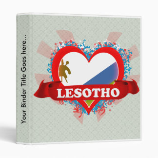 Vintage I Love Lesotho 3 Ring Binder
