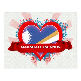 Vintage I Love Marshall Islands Postcard