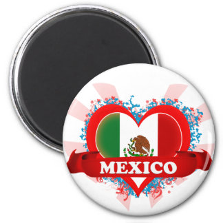 Vintage I Love Mexico 2 Inch Round Magnet